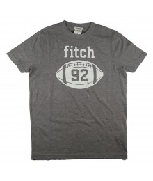 "Abercrombie & Fitch Grey "" Football 92"" Print Tee"