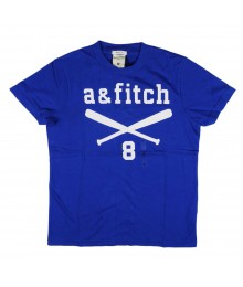 "Abercrombie & Fitch Blue ""Baseball Bat"" No8 Tee"