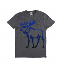 Abercrombie Grey Tee Wt Big Deer Print