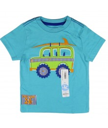 "JK Boys Aqua Blue "" Surf Team 26"" Beach Car Print Tee"