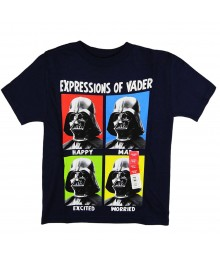 "Star Wars Navy "" Expressions Of Vader "" Tee"