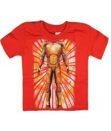 "Iron Man Red ""Ironman Body Suit"" Graphic Boys Tee"