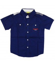 Nautica Admiral Blue South Pacific Boys Shirt