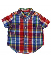 Chaps Red/Blue Multi Checkered S/Sleeve Shirt Little Boy
