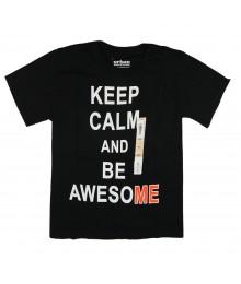 Urban Pipeline Black Boys Tee - Keep Calm N Be Awesome