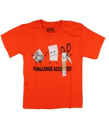 Urban Pipeline Orange Boys Tee - Challenge Accepted