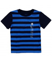 Circo Navy/Blue Stripped with Navy Sleeve Boys Tee Little Boy