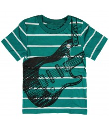 Circo Green Stripped Boys Tee