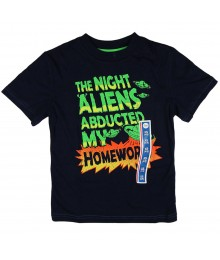 Circo Navy Boys Tee - Aliens Abducted My Homework Little Boy