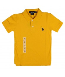Uspa Yellow Polo Boys Little Boy