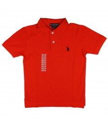 Uspa Red Polo Boys with Small Uspa
