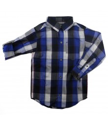 Calvin Klein Blue/White Stripped L/Sleeve Shirts Little Boy