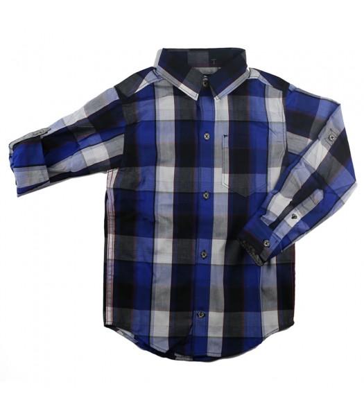 Calvin Klein Blue/White Stripped L/Sleeve Shirts