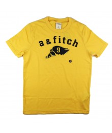 Abercrombie Yellow Tee Wt A 7 Fitch Appliq