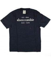 Abercrombie Grey Tee Wt Est 1892abercrombie Appliq - Med