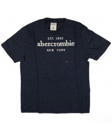 Abercrombie Grey Tee Wt Est 1892abercrombie Appliq