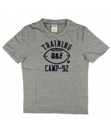Abercrombie Grey Tee Wt Training A & F Camp-90 Embdry - Large