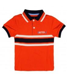 Nautica Orange Polo with Badge at back