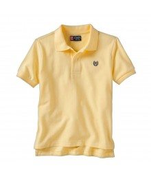Chaps Yellow Solid Pique Polo - Boys