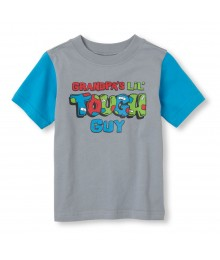 Childrens Place Grey Boys Tee/Tough Guy Print