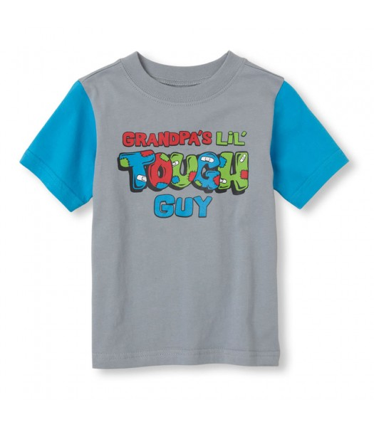Childrens Place Grey Boys Tee/Tough Guy Print