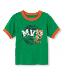 Childrens Place Green Boys Tee/Most Valuable Pro (Mvp) Print