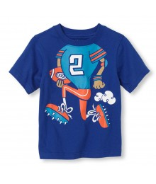 Childrens Place Blue Boys Tee/Running Back Print