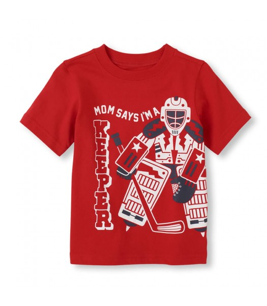 Childrens Place Red Boys Tee/Moms Keeper Print
