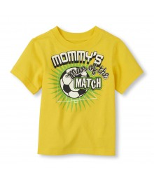 Childrens Place Yellow Boys Tee/Mommys Soccer Man Print