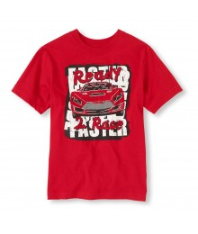 Childrens Place Red Boys Tee/Ready 2 Race Print