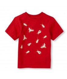 Childrens Place Red Boys Tee/Glow-In-The-Dark Print Little Boy