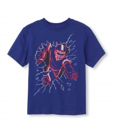 Childrens Place Blue Boys Tee/Fierce Football Print
