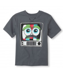 Childrens Place Grey Boys Tee/Retro Tv Print