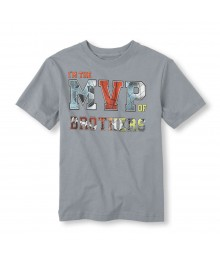 Childrens Place Grey Boys Tee/The Mvp Print