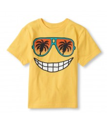 Childrens Place Yellow Boys Tee/Sunny Miami Print