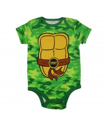 Teenage Mutant Ninja Turtles Green Newborn Camo Bodysuit Baby Boy