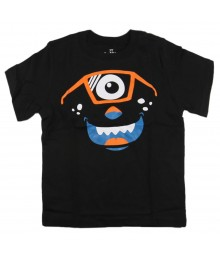 Childrens Place Black Boys Tee Wt Eye Monster Print