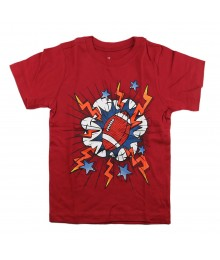 Childrens Place Red Boys Tee Wt Footbal Print