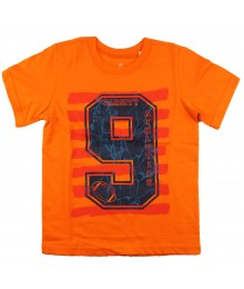 Childrens Place Orange Boys Tee Wt 9 Varsity Print