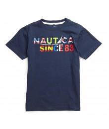 Nautica Navy Boys Tee Wt Multi Colo Nautica Print