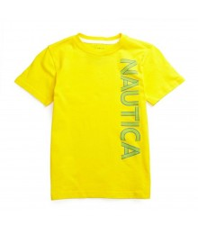 Nautica Yellow Boys Tee Wt Green/Blue Nautica Print