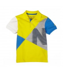 Nautica Yellow/Blue/White/Black Color Block T-Shirt