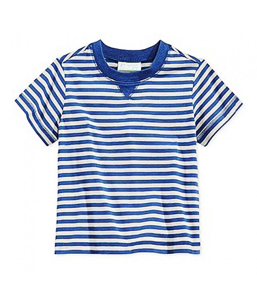 First Impressions Navy/Grey Stripes Boys Tees