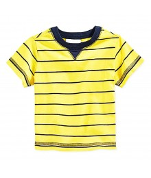 First Impressions Yellow Wt Navy Stripes Boys Tees