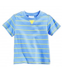 First Impressions Blue Wt Yellow Stripes Boys Tees