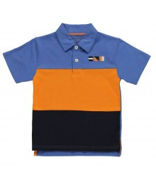 Kitestrings Blue/Orange/Navy Polo Boys Tee Baby Boy