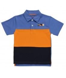 Kitestrings Blue/Orange/Navy Polo Boys Tee