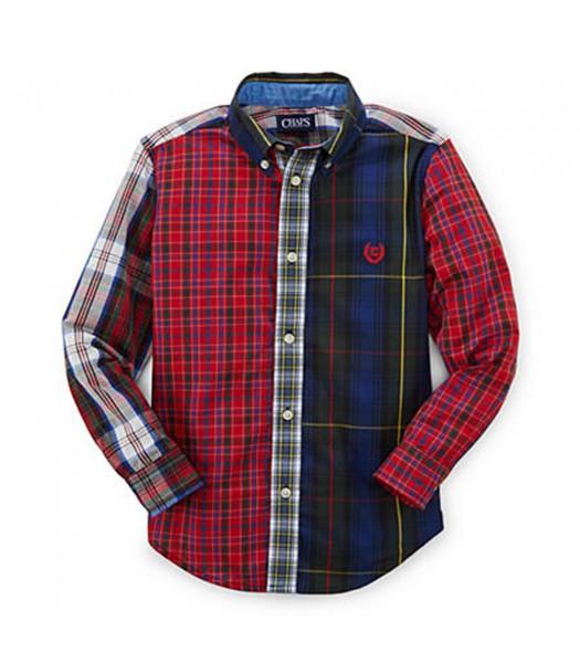 Chaps Multi Plaid Bulton Down L/Sleeve Shirt