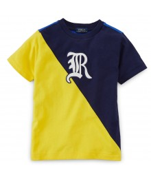Polo Navy/Yellow/Blue Color Block R Colton Boys Tee