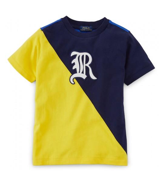 Polo Navy/Yellow/Blue Color Block R Colton Boys Tee